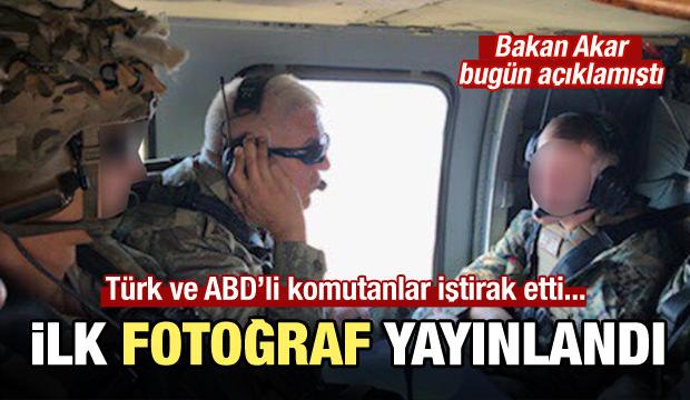 Bakanlık fotoğraf yayınladı: Güvenli Bölge'de ilk uçuş