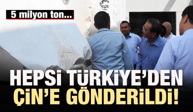 Hepsi Türkiye'den Çin'e gönderildi!