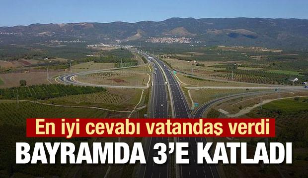 İzmir otoyolu için cevabı vatandaş verdi