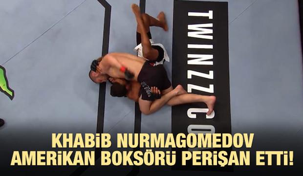 Khabib Nurmagomedov Amerikan boksörü perişan etti!