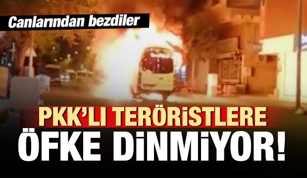 PKK'lıların yaktığı minibüsün şoförü isyan etti