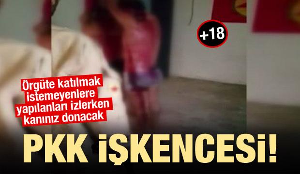 PKK'nın örgüte katılmayanlara yaptığı işkence görüntülendi
