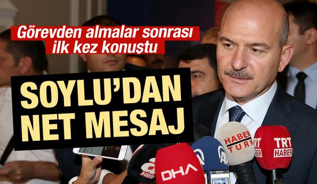 Süleyman Soylu'dan son dakika açıklaması