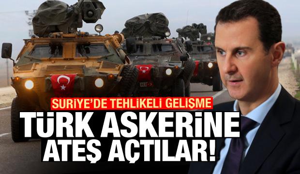 Suriye'de tehlikeli gelişme! Esed ordusu Türk askerine ateş açtı