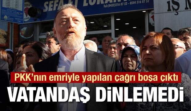 Terör örgütü PKK ve HDP'nin sokak çağrısı cevapsız kaldı