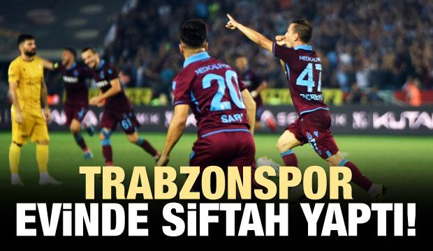 Trabzonspor evinde siftah yaptı!