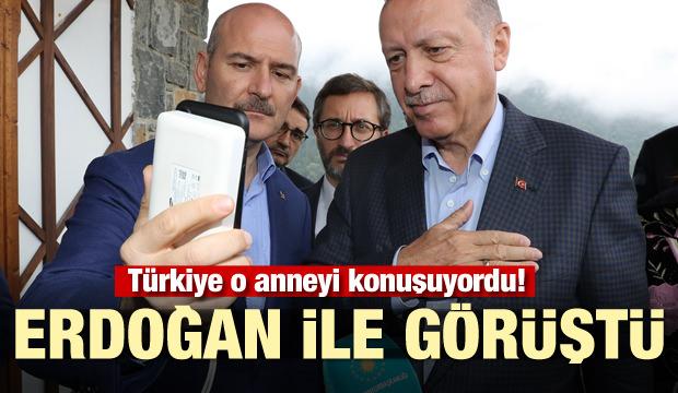 Türkiye o anneyi konuşuyordu! Başkan Erdoğan telefonla konuştu