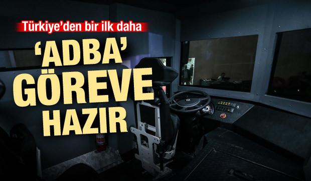 Türkiye'de bir ilk! 'Adba' göreve hazır...