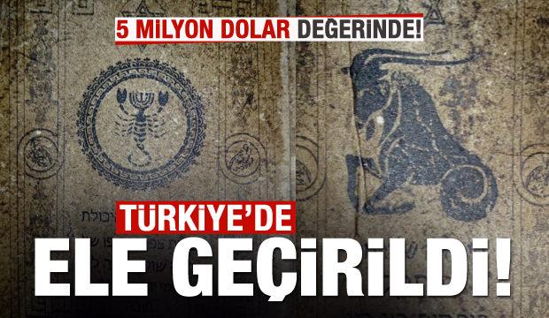 Türkiye'de ele geçirildi! 5 milyon dolar değerinde!