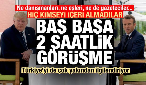 Türkiye'yi de ilgilendiriyor! Trump ve Macron'dan baş başa görüşme