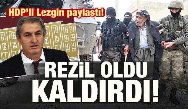 HDP'li Lezgin paylaştı! Rezil oldu, kaldırdı!