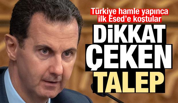 Türkiye hamle yapınca ilk Esed'e koştular! Dikkat çeken talep