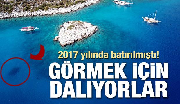 2017 yılında batırılmıştı! Akdeniz'in dibindeki tanka büyük ilgi