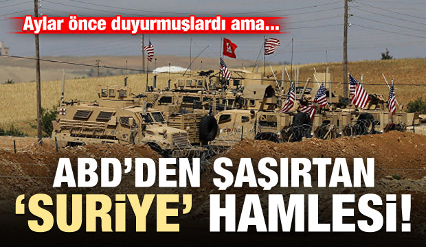 ABD'den şaşırtan 'Suriye' hamlesi!