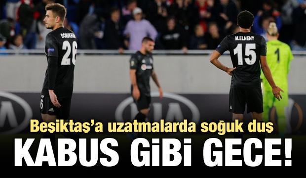 Beşiktaş'a uzatmalarda soğuk duş!