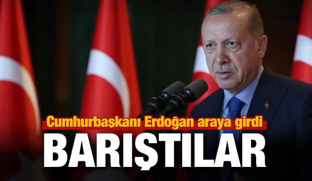 Cumhurbaşkanı Erdoğan kan davası bulunan 4 aileyi barıştırdı