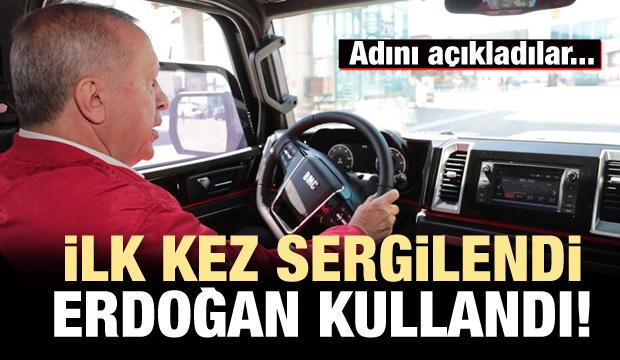 Cumhurbaşkanı Erdoğan, yerli pikap aracı kullandı