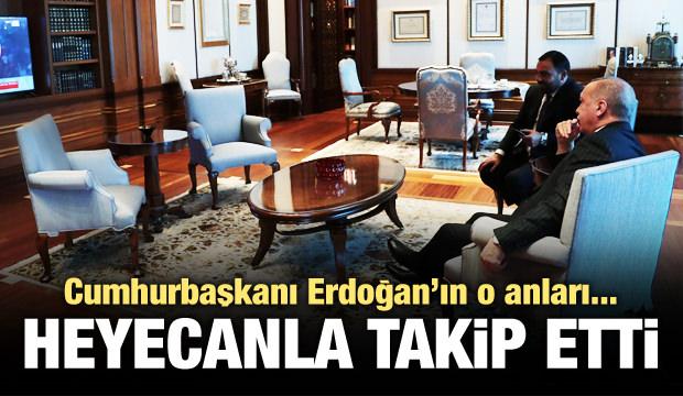 Cumhurbaşkanı Erdoğan'ın o anları!