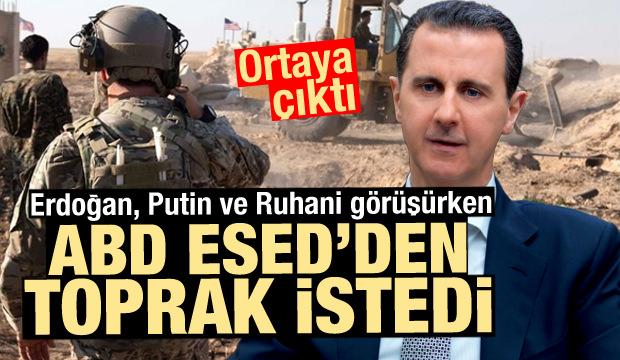 Erdoğan, Putin ve Ruhani görüşürken oldu! ABD, Esed'den talep etti