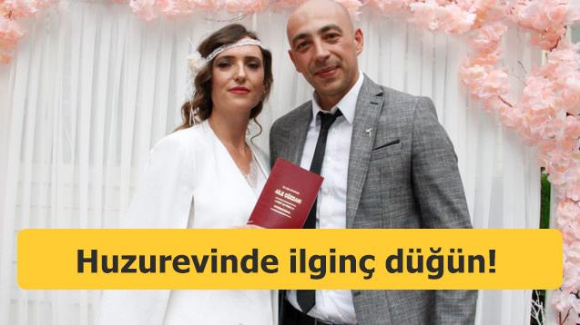 Huzurevinde ilginç düğün! Jandarma Astsubay...