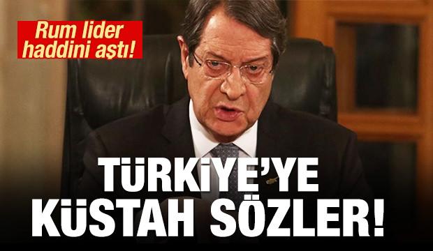 Rum lider Nikos Anastasiadis haddini aştı! Türkiye'ye küstah sözler!