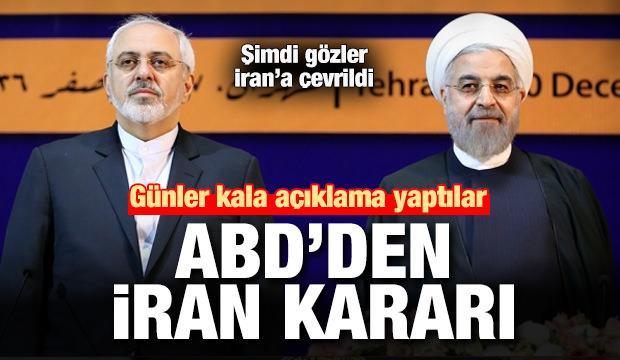 Son dakika haber: ABD'den İran kararı