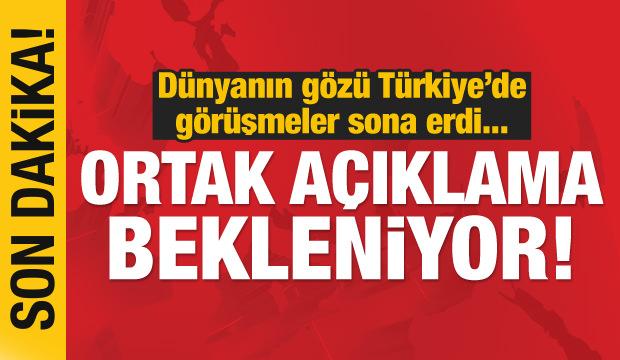 Son dakika haberi: Dünyanın gözü Ankara'da! Ortak açıklama bekleniyor