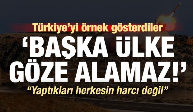 Türkiye'yi örnek gösterdiler: Herkesin harcı değil başkası göze alamaz