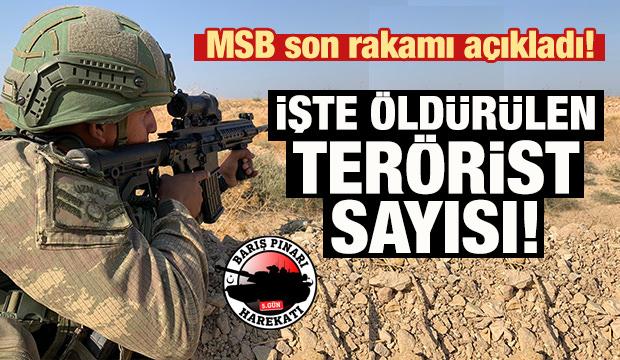 MSB son rakamı açıkladı! İşte öldürülen terörist sayısı
