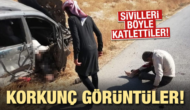 YPG/PKK sivil yerleşim yerlerini vurdu! Korkunç görüntüler...