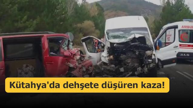 Kütahya'da dehşete düşüren kaza!