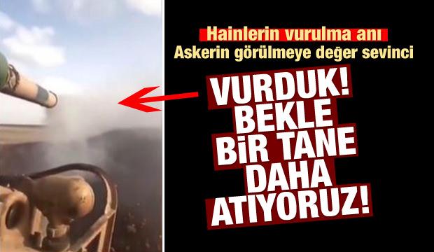Mehmetçik böyle sevindi! YPG'nin vurulduğu anda...