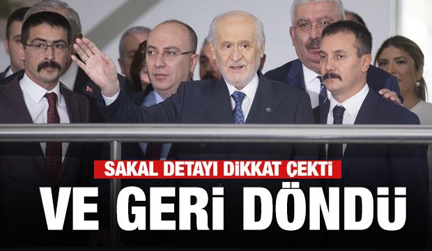MHP lideri Bahçeli Genel Merkez'de! Sakallı hali ilk kez görüntülendi