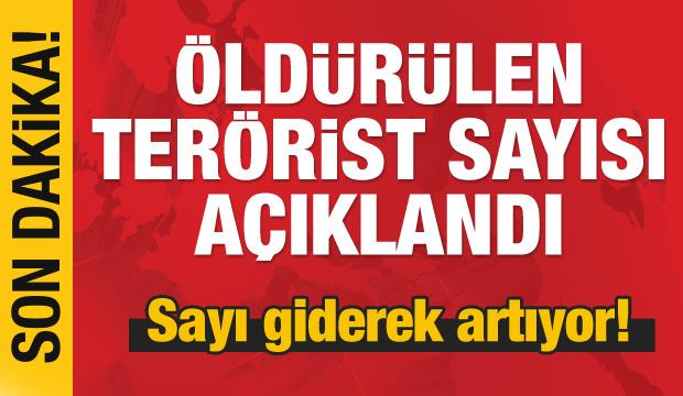 MSB, öldürülen terörist sayısını açıkladı