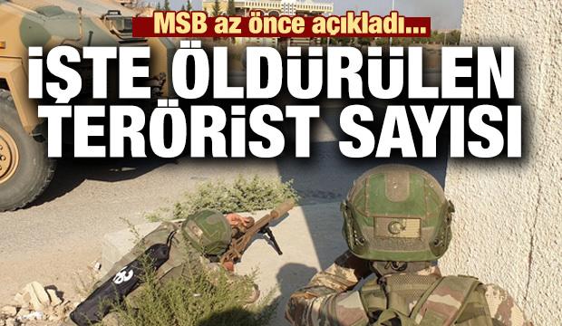 MSB son rakamları açıkladı... İşte öldürülen terörist sayısı