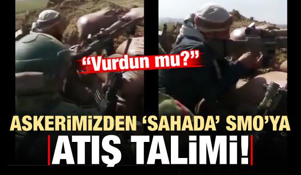 Türk askerinden SMO'ya sahada atış talimi: Vurdun mu?