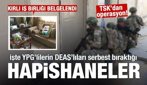 YPG'lilerin DEAŞ'lıları serbest bıraktığı hapishanenin görüntüleri