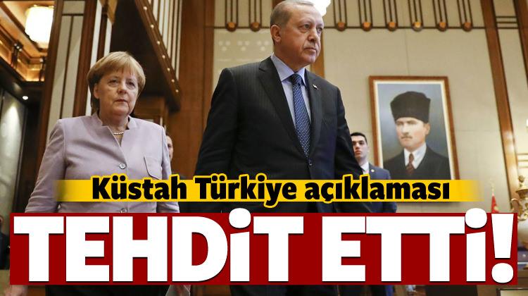 Merkel'den flaş Türkiye açıklaması! Tehdit etti