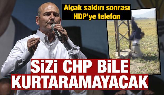 Soylu'dan PKK saldırısı sonrası HDP'ye telefon