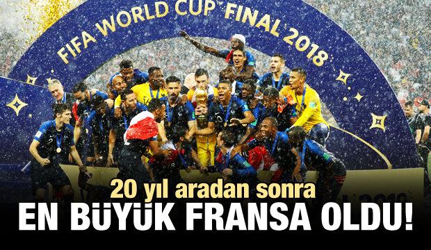 20 yıl aradan sonra Dünya Şampiyonu Fransa!