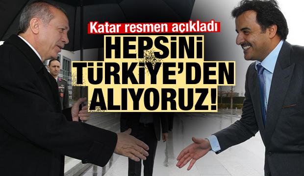 Katar hepsini Türkiye'den aldı! Resmen açıklandı