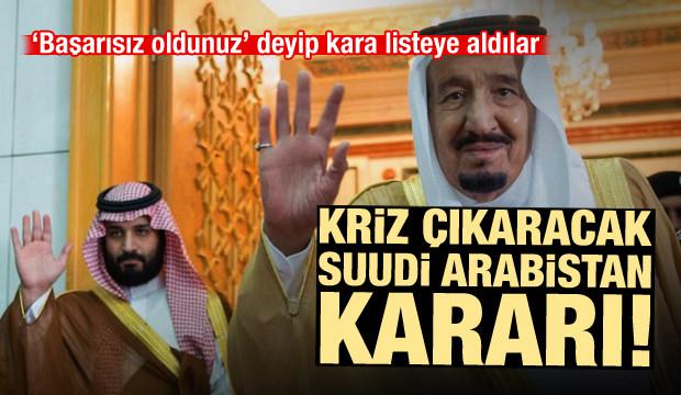 AB'den kriz çıkaracak karar! Suudi Arabistan'ı kara listeye aldılar