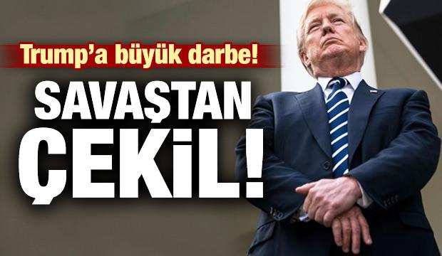 Trump'a büyük darbe: Savaştan çekil!
