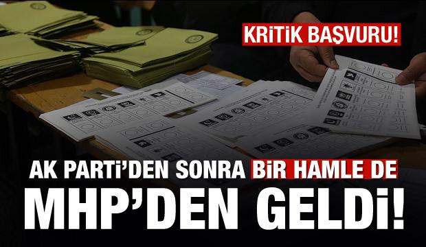 AK Parti'den sonra bir hamle MHP'den geldi
