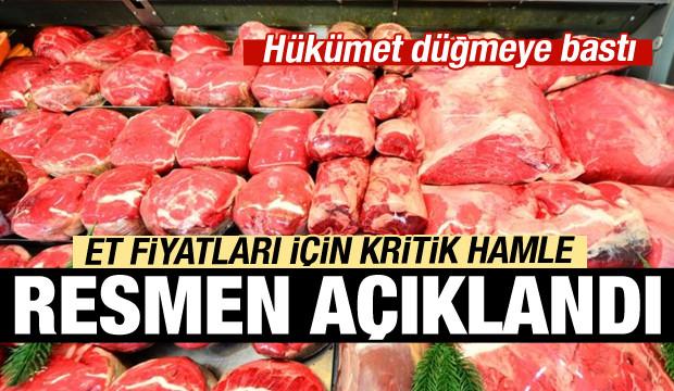 Et fiyatları için önemli hamle!