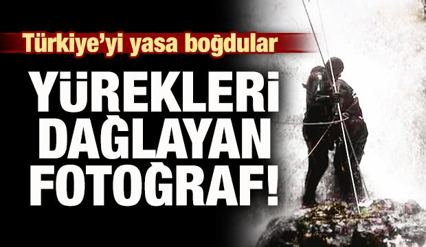 Türkiye'yi yasa boğdular! Yürekleri dağlayan fotoğraf