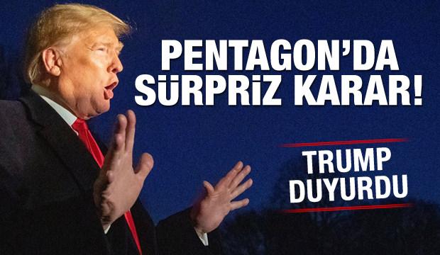 Pentagon'da sürpriz karar! Trump açıkladı