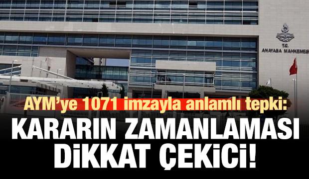 1071 akademisyenden, AYM kararına anlamlı bildiri!