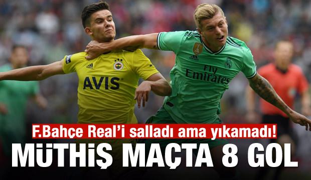 Real Madrid-F.Bahçe maçında 8 gol