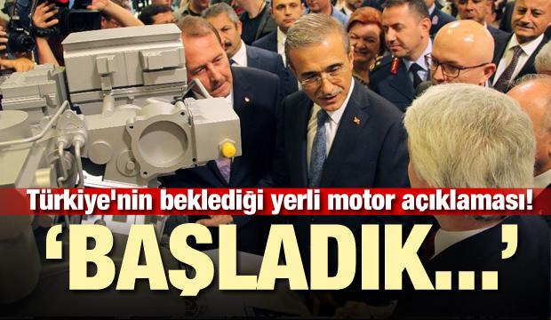 Türkiye'nin beklediği yerli motor açıklaması! 'Başladık...'